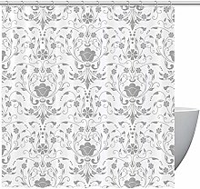 MUMIMI Shower Curtains with Damask Floral Print