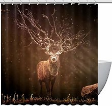 MUMIMI Shower Curtains with Forest Deer Print