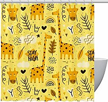 MUMIMI Shower Curtains with Lovely Cartoon Giraffe