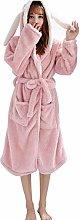 MUMUMI Pajamas,Ladies Bathrobe 100% Coral Fleece