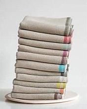 Mungo - Pure Linen Napkin with coloured border -