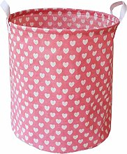 Munzong Collapsible Storage Bin with Pink Love