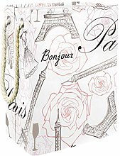 MUOOUM France Paris City Eiffel Tower Rose Floral