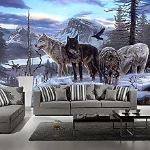 Mural 3D Animal Photo Wallpaper Roll Home Interior