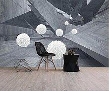 Mural 3D Wallpaper 3D Space Geometric Technology