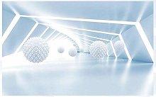 Mural 3D Wallpaper Futuristic Technology Tunnel