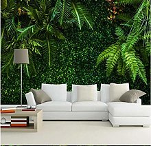Mural 3D Wallpaper Green Tv Background with
