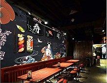 Mural 3D Wallpaper Japanese Food Sushi Restaurant
