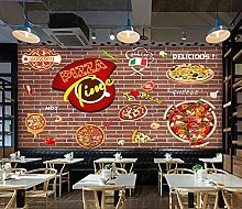 Mural 3D Wallpaper Pizza Shop Graffiti 3D Mural