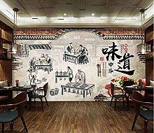Mural 3D Wallpaper Retro Chinese Taste Chinese