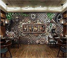 Mural 3D Wallpaper Stylish Mechanical Retro Bar