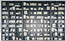 Mural 3D Wallpaper Three-Dimensional Bookshelf