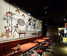 Mural 3D Wallpaper Vintage Chinese Tea Ceremony