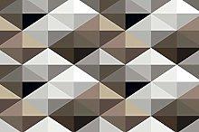Mural Cool Brown Geometric Pattern Mural 3D