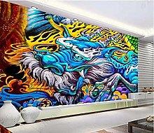 Mural Cool Hand-Painted Graffiti bar KTV Club 3D