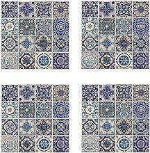 Mural Decoration Sticker Spanish Blue 54x54cm 4