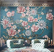 Mural Flower 3D Wallpaper Living Room DIY Tv Sofa