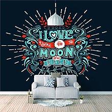 Mural I Love The Moon - 3D Wall Mural Custom