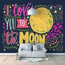 Mural I Love The Moon 3D Wall Mural Living Room