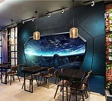 Mural Industrial Wind Spaceship Door bar KTV Mural