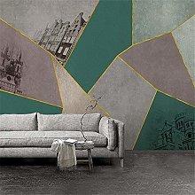 Mural Mural Gold Line Texture Geometric Marble 3D