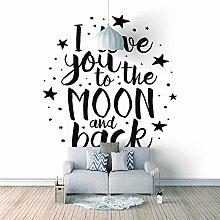 Mural Self- Adhesive Photo Wallpaper I Love You