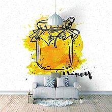 Mural Self- Adhesive Photo Wallpaper Yellow Gift