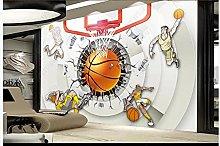 Mural Wallpaper 3D 3D Creative Basketball Arena