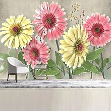 Mural Wallpaper 3D Flower Wall Painting Living