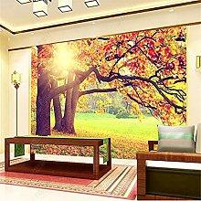 Mural Wallpaper 3D for Living Room Autumn Golden