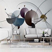 Mural Wallpaper 3D Modern Geometric Lines Smoke TV