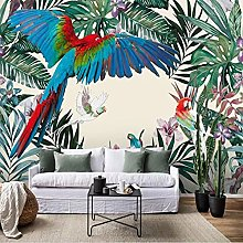 Mural Wallpaper 3D Nordic Plants Flowers and Birds