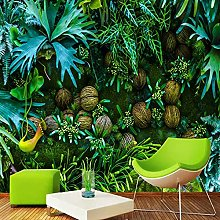 Mural Wallpaper 3D Plant Green Leaf Wall Painting