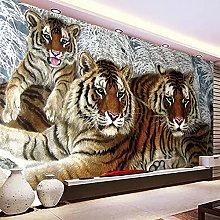 Mural Wallpaper 3D Tiger Animal Mural Living Room