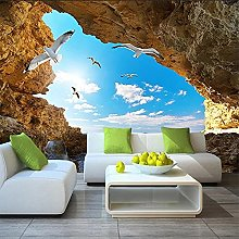 Mural Wallpaper for Wall 3D Stereoscopic Seascape