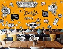 Mural Wallpaper Music Theme bar KTV3d Art Wall