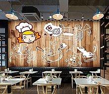 Mural Wallpaper Wooden Board Gastropub Restaurant