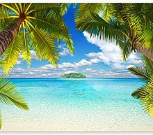 murando Photo Wallpaper Beach 343x256 cm Peel and