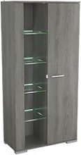 Murcia Glass Display Cabinet In Hudson Oak With 2