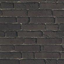 Muriva Brick Charcoal Wallpaper