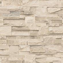Muriva Large Slate Cream Wallpaper