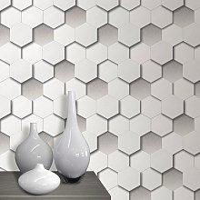 Muriva Ltd - WL-1400 3D Hexagon Wallpaper