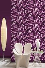 Muriva Silk Purple Wallpaper