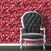 Muriva Silk Red Wallpaper