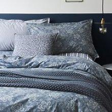 Murmur Kiku Floral Bedding In Copenhagen Blue