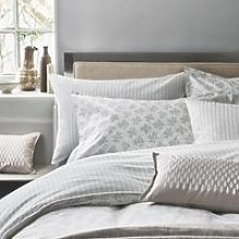 Murmur Leaf Double Duvet Cover Set, Linen