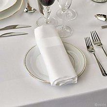 Musbury Elegant 100% Cotton Plain Satin Band Table