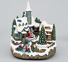 Muscial Polyresin Christmas Village Scene