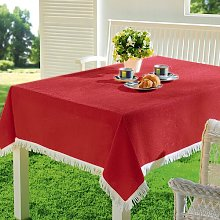 Muse Tablecloth August Grove Colour: Bordeaux Red,