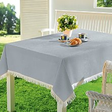 Muse Tablecloth August Grove Colour: Silver/Grey,